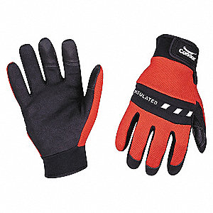 COLD PROTECTION GLOVES,M,RED/BLACK,