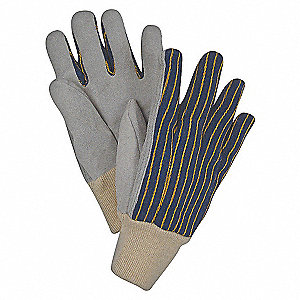 LEATHER GLOVES,CLUTE,BLUE/GRAY,S,PR