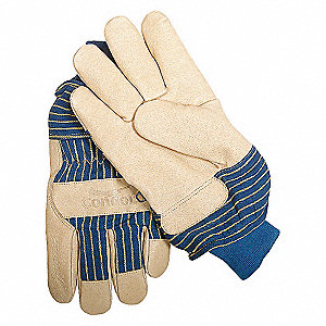 LEATHER GLOVES,GRAINED PIGSKIN,L,PR