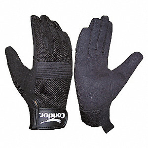 MECHANICS GLOVES,BLACK,S,PR