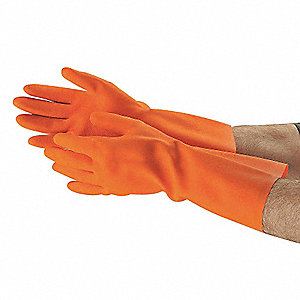 CHEMICAL RESISTANT GLOVE,28 MIL,SZ