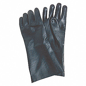 CHEMICAL RESISTANT GLOVE,PVC,14IN
