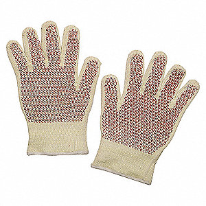 GLOVES HEAT RESIST WHITE/YLW/RUST
