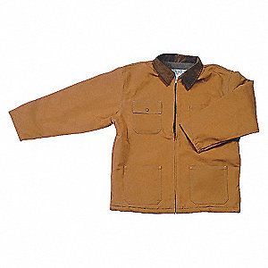 COAT CHORE QUILT LINED BROWN M