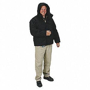 COAT HOODED ARCTIC BLACK XL