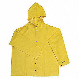 RAIN JACKET W/DETACHABLE HOOD,4XL