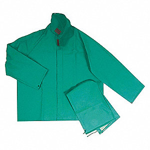 RAIN JACKET WITH DETACHABLE HOOD,GRN,L