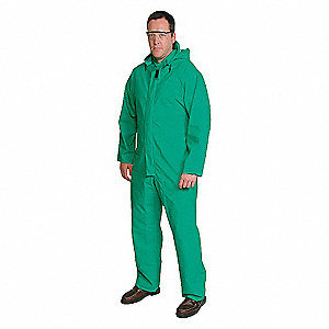 FLAME RETARDANT COVERALL,GREEN,2XL