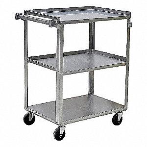Utility Cart,SS,31 Lx19 W,500 lb. Cap.