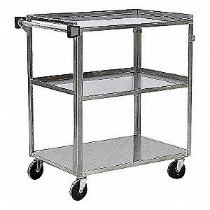 Utility Cart,SS,39-1/4 Lx22-3/8 W,500 lb