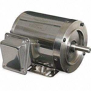 WASHDOWN MOTOR,3 PH,TENV,3/4 HP,115