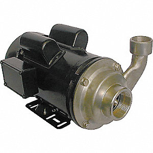 PUMP, CENTRIFUGAL, SS, 2 HP, 1 PH