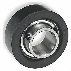 MOUNTED BALL BEARING,RUBBER,5/8 IN