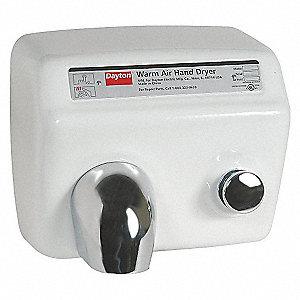 HAND DRYER,WHITE,115 V