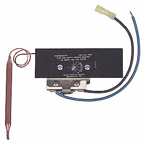 REMOTE BULB THERMOSTAT,BUILT IN,55-