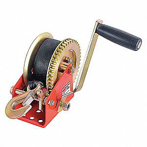 RATCHETING WINCH W/STRAP,SPUR,1400