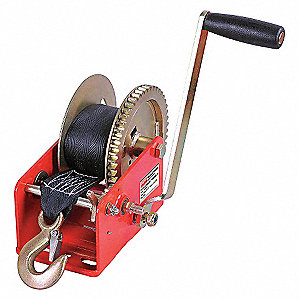 RATCHETING WINCH W/STRAP,SPUR,1800