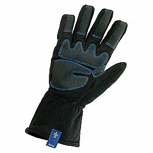 COLD PROTECTION GLOVES,PVC,XL,BLACK