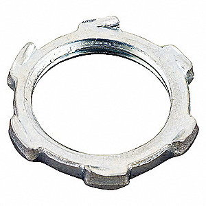 LOCKNUT,CONDUIT,ZINC PLATED STEEL,1
