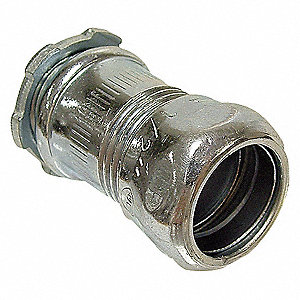 COMPRESSION CONNECTOR,1/2 IN,STEEL