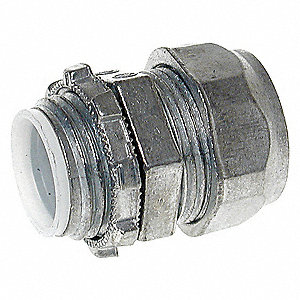 COMPRESSION CONNECTOR,1.5 IN,ZINC