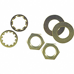 ASSORTED NUTS/WASHERS,PK 6