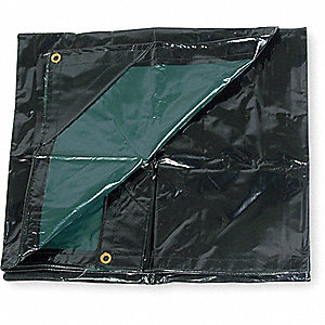 TARP,NYLON,VINYL LAM,BLACK/GREEN,6X