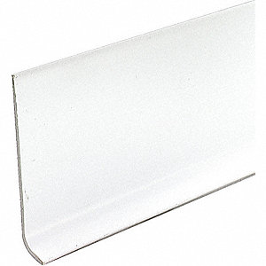 WALL BASE,WHITE,LENGTH 48 IN.