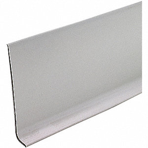 WALL BASE,SILVER GRAY,LENGTH 48 IN.