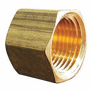 BRASS CAP,1/8 IN,FNPT