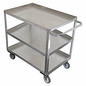 Unassembled Utility Cart,SS,53 L,1200 lb