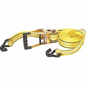 TIE-DOWN STRAP,RATCHET,27FT X 2IN,3