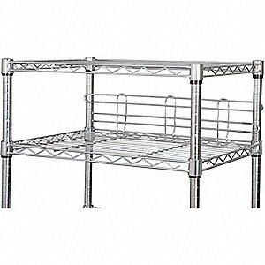 SHELF SIDE/BACK LEDGE,72 IN.,SS,PK2