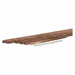 SPRING METAL WEATHERSTRIP,17 FT L