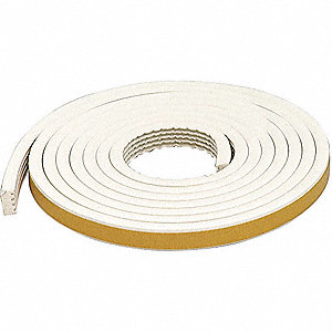 WEATHERSTRIP,WHITE,LENGTH 10 FT.