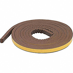 WEATHERSTRIP,BROWN,LENGTH 10 FT.