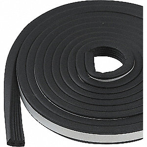 WEATHERSTRIP,BLACK,LENGTH 10 FT.
