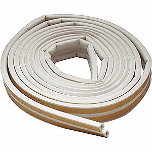 WEATHERSTRIP,P,WHITE,LENGTH 17 FT.