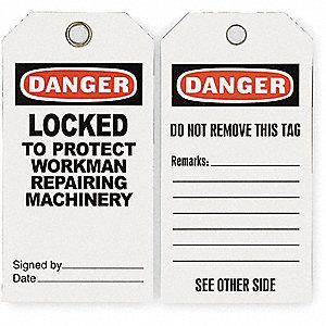 DANGER TAG,5-3/4 X 3 IN,ISO 9001,PK