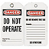 DANGER TAG,5-3/4 X 3 IN,DO NOT OPR,
