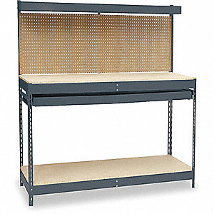 WORKBENCH,60WX30DX30-1/2 TO 34-1/2