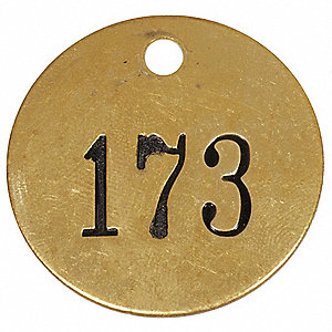 NBR TAG,1-1/2 X 1-1/2 IN,151-175