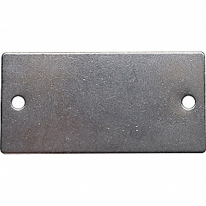 BLK TAG,1 X 2 IN,SIL,SST,RECT,PK100