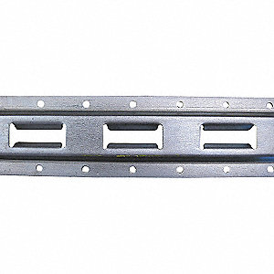 VERTICAL E-TRACK,ZINC PLATED FINISH