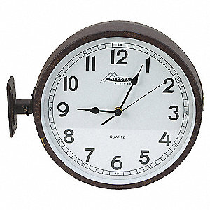 CLOCK,RND,ANLG,11 5/8IN,WALL,BLK