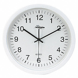 CLOCK,RND,ANLG,13 3/4IN,WALLL,WHITE