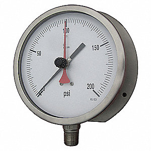 GAUGE,MAX REGISTERING,4 1/2 IN,600