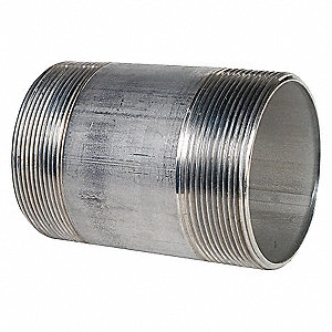 NIPPLE,3 IN,THREADED,304 STAINLESS