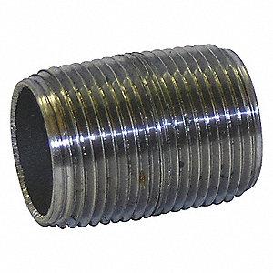 NIPPLE,STEEL,150 STEAM PSI,1/8 X CL