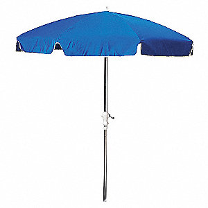 OUTDOOR UMBRELLA,ROUND,BLUE